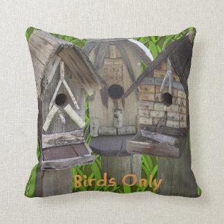 Three Bird Houses Cushion