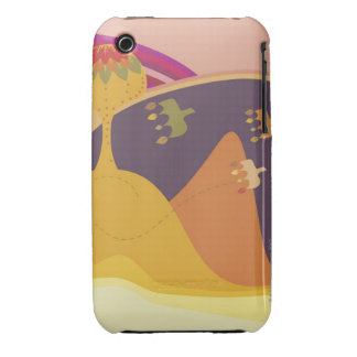 Three birds flying near a tree on a Traditional Case-Mate iPhone 3 Cases