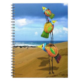 Three Birds on Beach in Australia Notebook