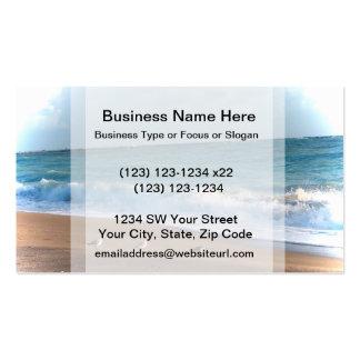 three birds on shore photo florida beach business card template