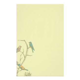 Three Birds Talking ~ Stationery / Letterhead