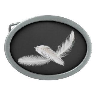 Three birdy feathers belt buckles
