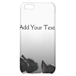 Three Black and White French Bulldogs Cover For iPhone 5C