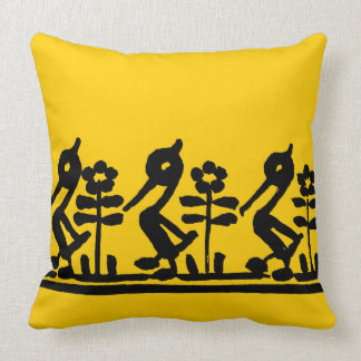 Three Black Ducks Cushion
