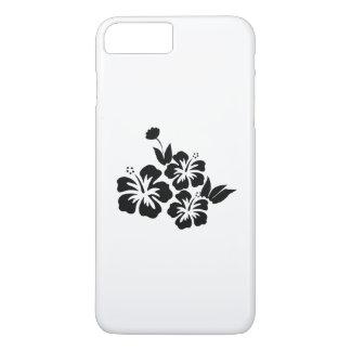 Three Black Hibiscus Tropical Flowers iPhone 8 Plus/7 Plus Case