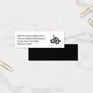 Three Black Hibiscus Tropical Flowers Mini Business Card