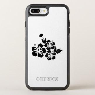 Three Black Hibiscus Tropical Flowers OtterBox Symmetry iPhone 8 Plus/7 Plus Case