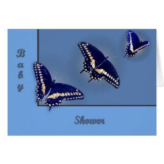 Three Black Swallowtail Greeting Card