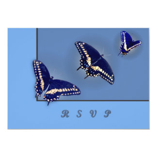 Three Black Swallowtail 13 Cm X 18 Cm Invitation Card