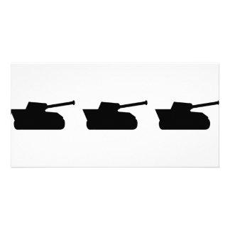 three black tanks icon photo card