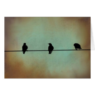 Three Blackbirds Card