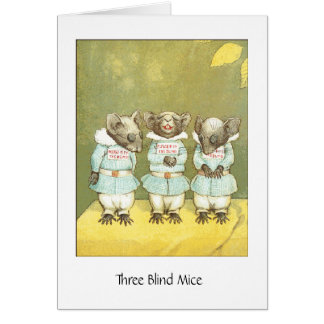 Three Blind Mice, Greeting Card