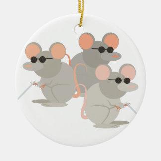 Three Blind Mice Round Ceramic Decoration