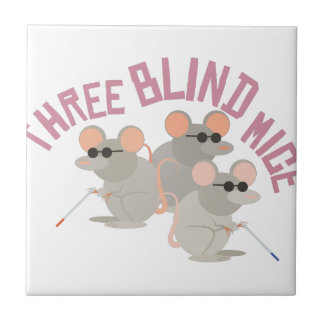 Three Blind Mice Small Square Tile