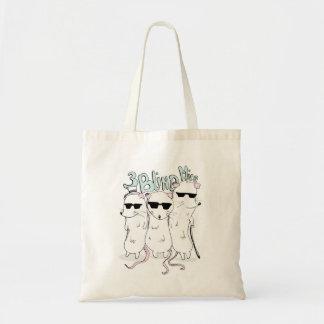 three blind mice tote bag