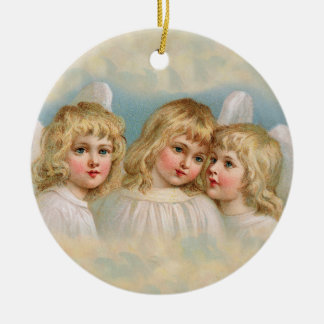 Three Blonde Angels Vintage Style Holiday Ornament