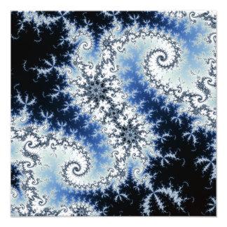 Three Blue Stars - fractal design Photograph