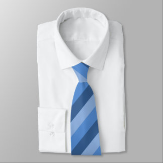 Three-Blue Striped Tie