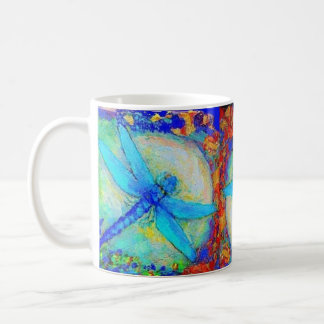 "Three Blue ""Zinger"" dragonflies Coffee Mug"
