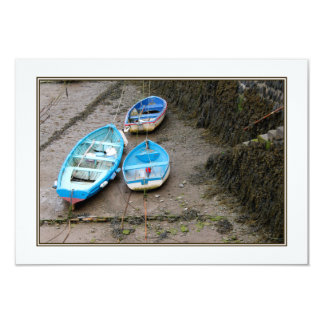 Three Boats. 9 Cm X 13 Cm Invitation Card