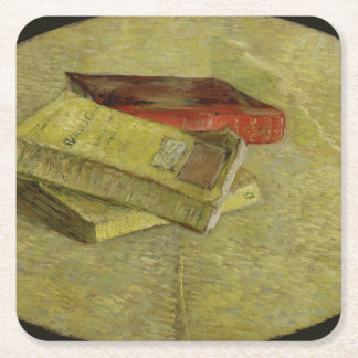 Three Books by Vincent Van Gogh Square Paper Coaster