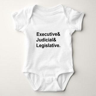 Three Branches of Government Executive Legislative Baby Bodysuit
