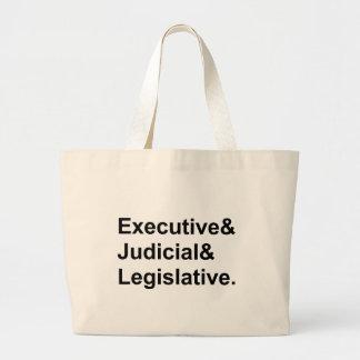 Three Branches of Government Executive Legislative Jumbo Tote Bag