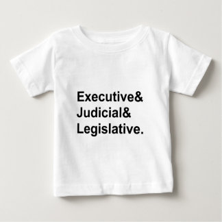 Three Branches of Government Executive Legislative Tee Shirt