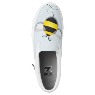 Three Bumble Bees Slip-On Shoes