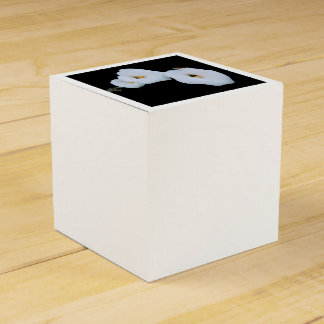 Three Calla Lilies Isolated On A Black Background Party Favour Box