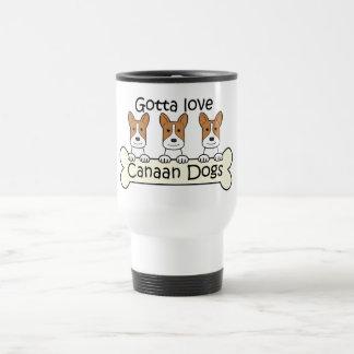 Three Canaan Dogs Travel Mug
