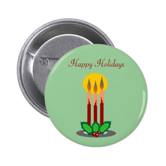 Three Candles Holiday Button
