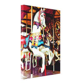 Three Carousel Horses Canvas Print