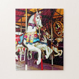 Three Carousel Horses Jigsaw Puzzle