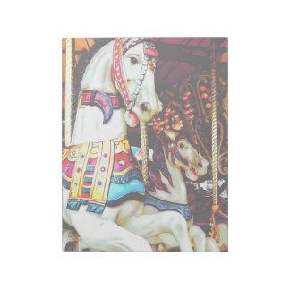 Three Carousel Horses Notepad