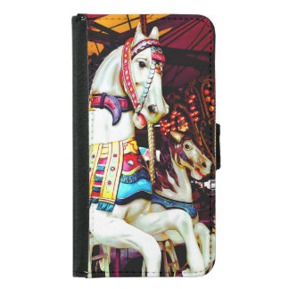 Three Carousel Horses Samsung Galaxy S5 Wallet Case