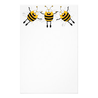 Three Cartoon Bee Stationery