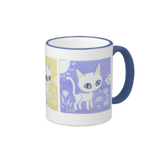 Three Cats Art Mug