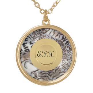 Three Cats Gold Plated Necklace