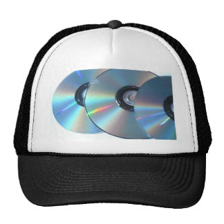 Three Cds On A Paper Mesh Hats