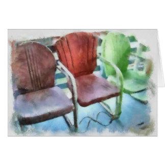 Three Chairs Card