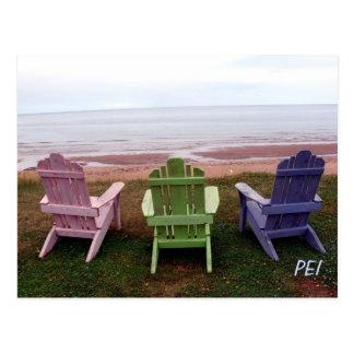 Three chairs postcard