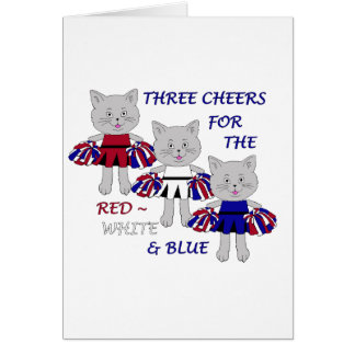 Three Cheers for the Red, White and Blue-WORD Card