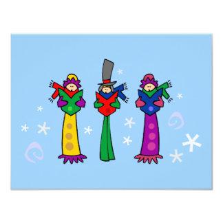 Three Christmas Carolers 11 Cm X 14 Cm Invitation Card