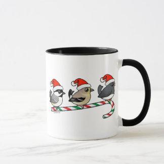 Three Christmas Finches (US) Mug