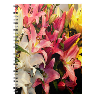 Three Colored Lilies Notebook