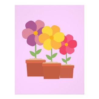Three colorful Flowers Zo728 21.5 Cm X 28 Cm Flyer