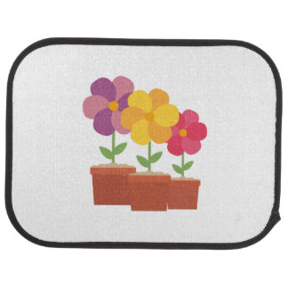Three colorful Flowers Zo728 Car Mat