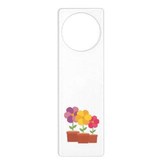 Three colorful Flowers Zo728 Door Hanger
