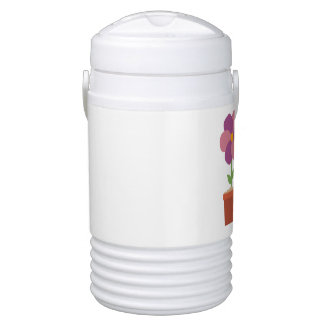 Three colorful Flowers Zo728 Drinks Cooler